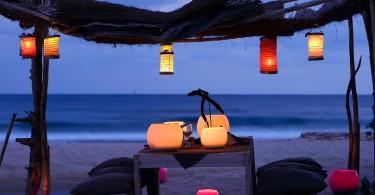 table romantique, plage