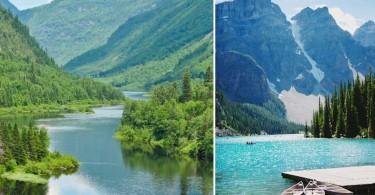 Lac canadien, montagnes